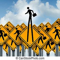 Career Success - Career success and climb to the top concept...