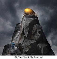 Golden Nest Egg Concept
