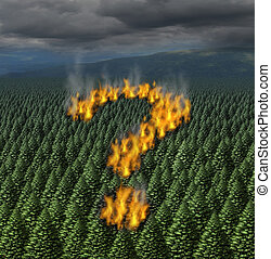 Forest Fire - Forest fire concept as a raging wildfire...