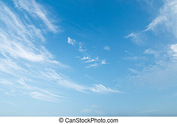 blue sky - White clouds in a blue sky Sky background