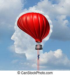 Examining The Brain - Examining the brain medical concept or...