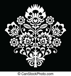 Traditional Polish folk art pattern - Decorative Slavic folk...