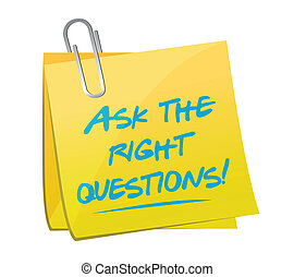 ask the right questions post message illustration design...
