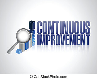 continuous improvement business graph illustration design...