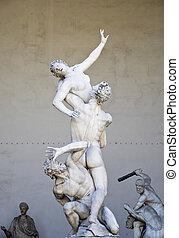 Renaissance sculpture in Piazza della Signoria, Florence