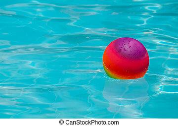 Ball in swimming pool