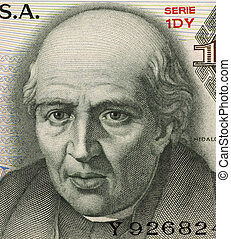 Miguel Hidalgo y Costilla on 10 Pesos 1975 Banknote from...