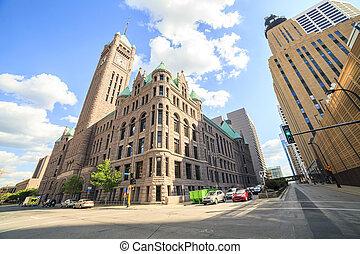 City Hall of Minneapolis, Minnesota - City Hall of...
