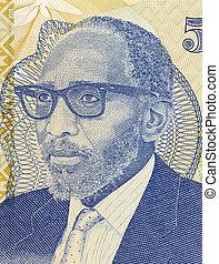 Moshoeshoe II on 5 Maloti 1989 Banknote from Lesotho...