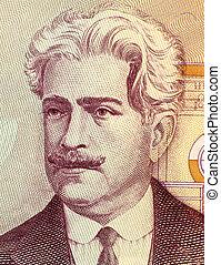 Oswaldo Cruz on 50000 Cruzerios 1985 Banknote from Brazil....