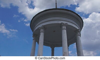 gazebo with newlyweds - The newlyweds are in the gazebo with...