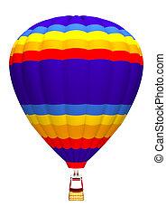 quentes, ar, Balloon, branca