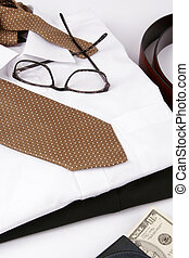Business Man Suit - Detail of a Business Man Suit with brown...