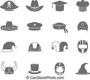 Icons hat set black