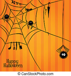 Web, spiders and some things in Halloween style - Web fuzzy...