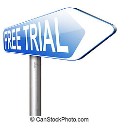 free trail - try now for free trial membership or product...