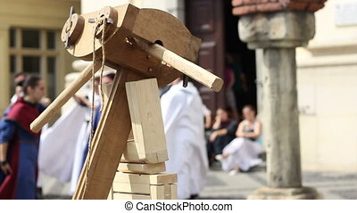 Large Wooden Crossbow - A big medieval crossbow. A crossbow...