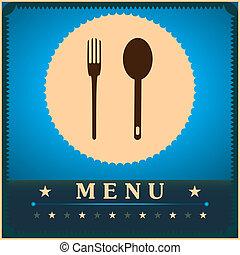 Restaurant Menu Card Design template.