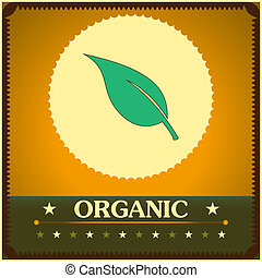 Vintage style organic poster. Vector illustration