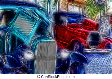 Car Show Memories - Abstract automobile image