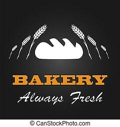 Fresh bread vintage design menu poster. Vector