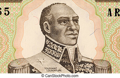 Toussaint Louverture on 1 Gourde 1989 Banknote from Haiti....
