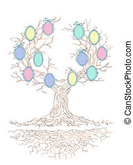 Vector candy colors genealogical branchy tree