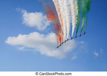 "frecce tricolore ""tricolor arrows"" - View of Italian..."