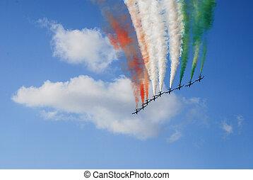 """frecce, Tricolore, """"tricolor, arrows"""""""