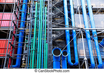Paris - The Pompidou cultural center in Paris, France