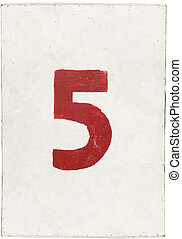 number five on white plywood board - number five on white...