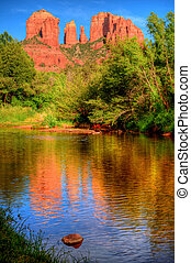 Sedona Arizona - Red Rock country mountains surrounding...