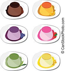 pudding on white background