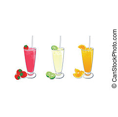 smoothies fruit [02] - smoothies fruit on white background
