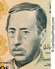 Augusto Ruschi on 500 Cruzados Novos 1990 Banknote from...