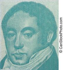 Bernardino Rivadavia on 1 Austral 1985 Banknote from...