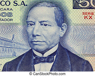 Benito Juarez on 50 Pesos 1981 Banknote from Mexico First...