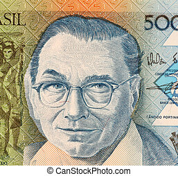 Candido Portinari on 5000 Cruzados 1988 Banknote from...