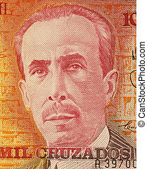 Carlos Chagas on 10000 Cruzados 1989 Banknote from Brazil....