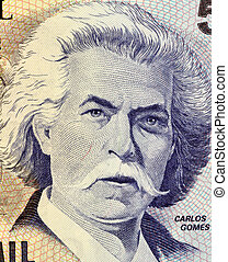 Carlos Gomes on 5000 Cruzerios 1993 Banknote from Brazil....