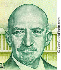 Chaim Azriel Weizmann on 5 Sheqalim 1978 Banknote from...