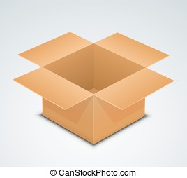 Open box. Recycle brown paper box packaging