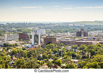 Panorama of Rapid City, South Dakota. - Panorama of Rapid...