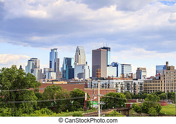 Minneapolis Downtown, Minnesota - Skyscrapers of...