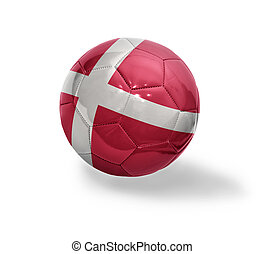 Danish Football - Football ball with the national flag of...