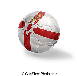 Northern Ireland Football - Football ball with the national...