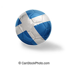 Scottish Football - Football ball with the national flag of...
