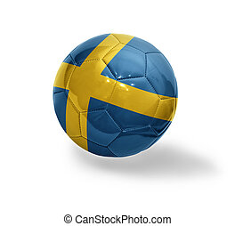 Swedish Football - Football ball with the national flag of...