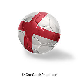 English Football - Football ball with the national flag of...