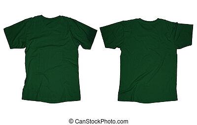 Dark Green T-Shirt Template